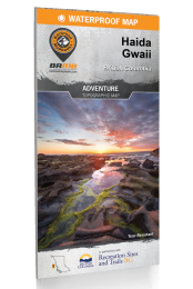 Haida Gwaii BC Waterproof Map