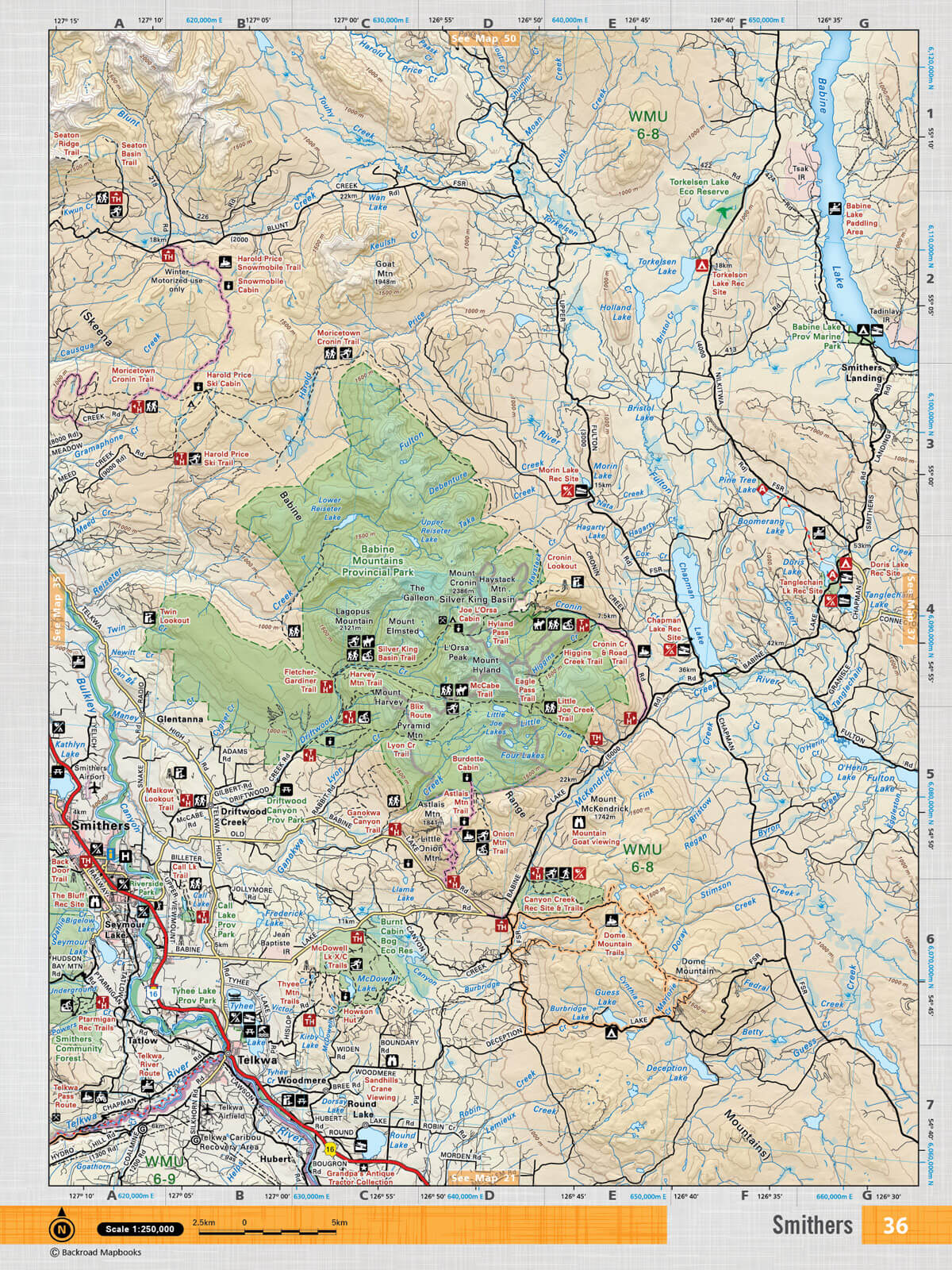 Smithers bc map
