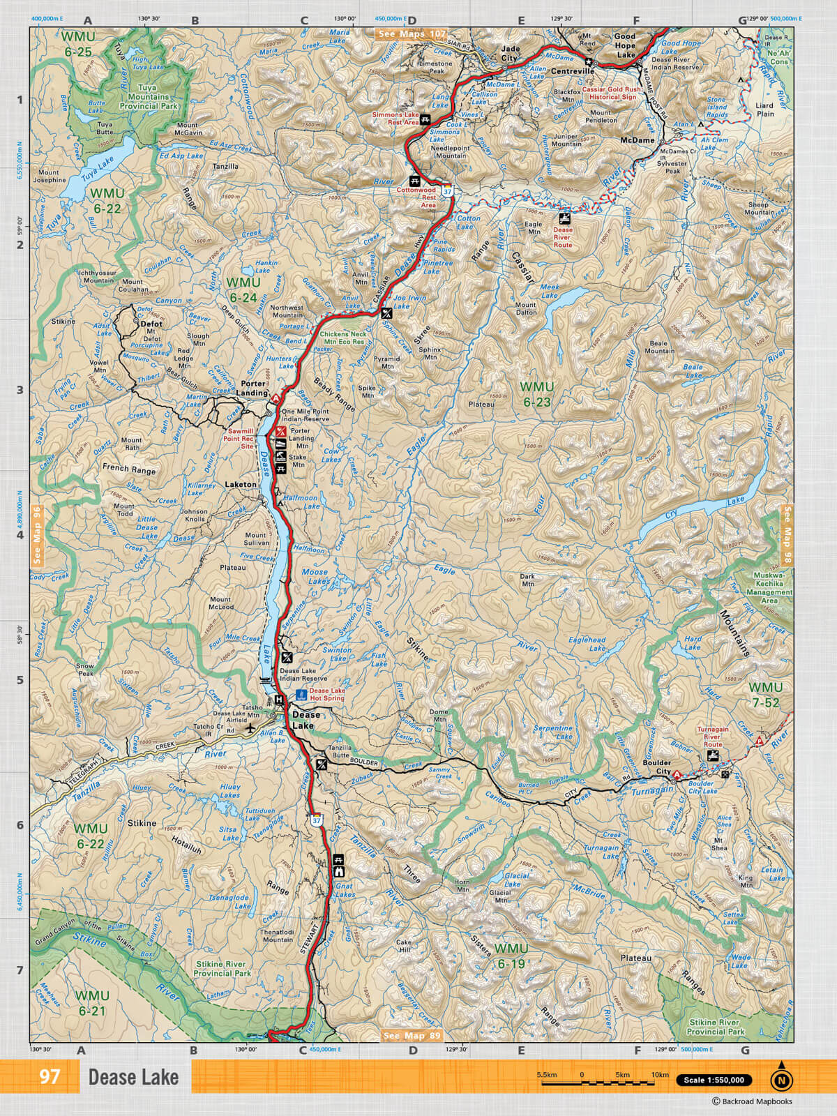 dease lake bc map Nobc97 Topo Dease Lake Topo Maps dease lake bc map