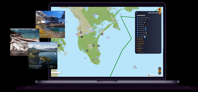 Web Maps Backroad Mapbooks